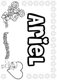 ariel coloring pages hellokids