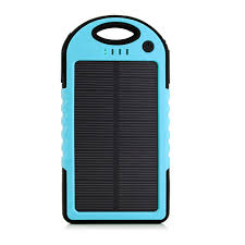 5000mah portable shockproof waterproof solar charger battery panal