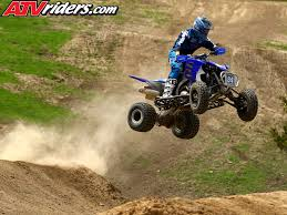 atv motocross kawasaki u0027s chad wienen atv motocross track with yamaha u0027s thomas brown