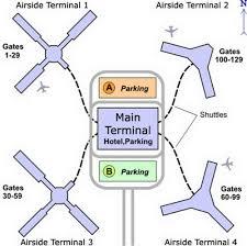 Phoenix Airport Terminal Map Airport Terminal Maps Ontario Orange County Orlando Palm