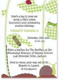 bug themed party invitations pink peppermint the blog