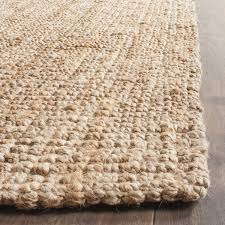 Jute And Wool Rug Safavieh Casual Natural Fiber Hand Woven Natural Accents Chunky