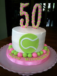 50th birthday cake for a tennis player cakecentral com