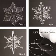 acrylic snowflake ornaments plus 5 yards free elastic