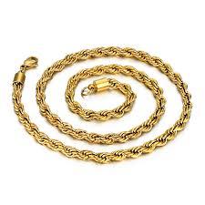 vintage long gold necklace images Kpop vintage long necklace mens gold chain 60cm gold color jpg