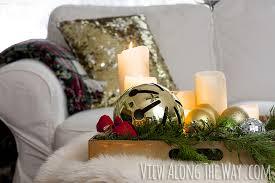 christmas decorations for sofa table decorating a sofa table for christmas dayri me