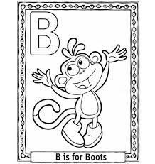 alphabet coloring pages b for boots alphabet coloring pages of