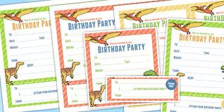 themed birthday party invitations dinosaur parties