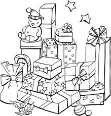 presents coloring free download