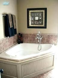 corner tub bathroom ideas garden tub bathroom ideas rock pebble surround with garden tub