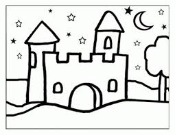 free coloring pages for kids castle coloring home