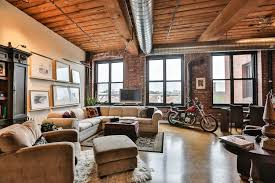 Open Floor Plan With Loft by A Warm Industrial Loft In The Northern Liberties Cigar Factory