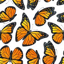 monarch butterfly watercolor pattern fabric jannasalak spoonflower