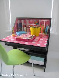 Fun Desks Be Back To Cool With A Stenciled Desk Stencil Stories