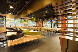 Over All Like But Could See In Blue And Yellow House Of Leonard - Fast food interior design ideas