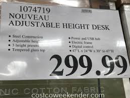 tresanti sit stand desk costco tresanti adjustable height motorized standing desk costco sku