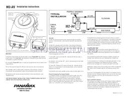 panamax surge protector m2 av user u0027s manual download free