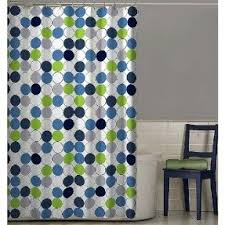 Blue And Green Shower Curtains Green Fabric Shower Curtain Foter