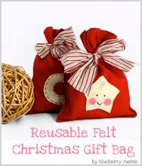christmas wrapping bags felt christmas gift bag felt christmas christmas gifts and felting