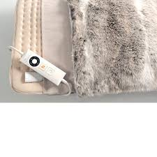 Electric Heated Cushion Buy Relaxwell Deluxe Faux Fur Heated Cushion John Lewis