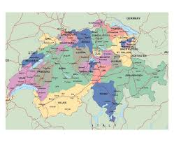 Detailed Map Of Germany by Maps Of Switzerland Detailed Map Of Switzerland In English