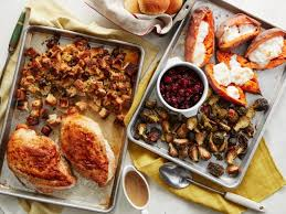 thanksgiving on 2 sheet pans recipe food network kitchen food