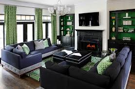 Blue And Black Living Room Decorating Ideas 25 Green Living Rooms And Ideas To Match