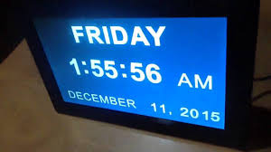 ivation clock pointells extra large digital calendar day clock with non