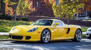 Porsche Macan Yellow - saw this amazing fayence yellow carrera gt in greenwich ct today