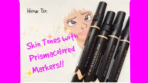 prismacolor markers how to color skin tones using prisma markers l