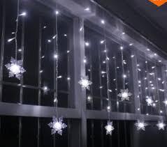 tripleclicks 3 8m led curtain snowflake string lights led