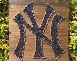 New York Yankees Home Decor by New York String Art Etsy