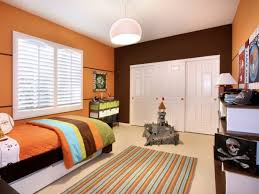chambre orange et marron peinture chambre enfant 70 idées fraîches