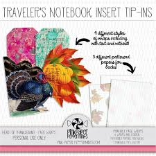 of thanksgiving printable traveler s notebook insert tip