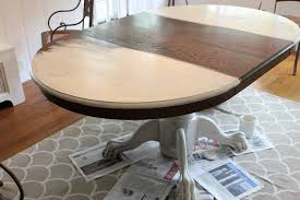kitchen table painted farmhouse table and chairs how to spray