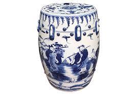 blue and white garden stool blue white garden stool chinese garden