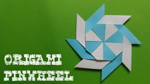 origami how to make an origami pinwheel steps with pictures how