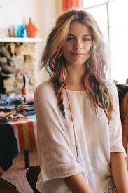 boho bob haircuts hair chalk arty boho rainbow waves braid hairstyles weekly