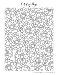 spring flowers coloring pages kids printable free