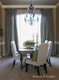 Dining Curtains Dimples And Tangles Dapper Dining Drapes Done