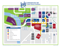Map Of Downtown Indianapolis For Attendees North American Cystic Fibrosis Conference