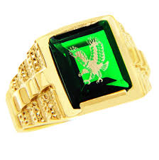 green stone rings images Men 39 s gold rings the green stone and gold eagle ring jpg