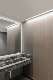 no room above bathroom mirror modern led lighting for the
