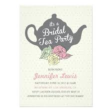 bridal tea party tea party invitation card