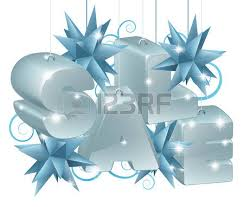or new year sale ornaments spelling out the word sale