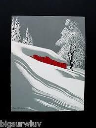 eyvind earle christmas cards winter eyvind earle christmas greeting card