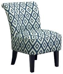 Pattern Chairs Elegant Accent Desk Chair Threshold Rounded Back Chair Ikat Blue