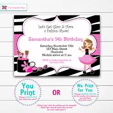 glamour birthday party invitation fashion by thebutterflypress