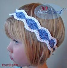 crochet hair bands free crochet pattern circle band