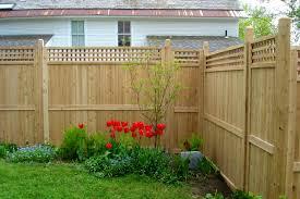 furniture cool yard cedar privacy fence stylish design concrete